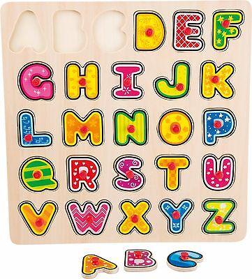 Holzpuzzle ABC Setzpuzzle Lernspielzeug NEU