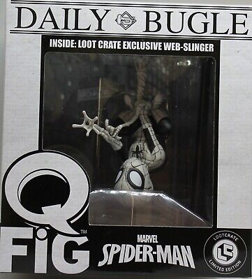 "Marvel Q-Fig Daily Bugle Spiderman Web Slinger 4"" Action Figure - 2017 QM"