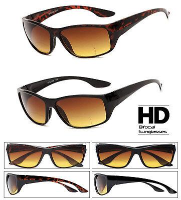 HD Amber Anti Glare Lens Inner Bifocal Sun Reader Sunglasses for Men and (Sunglass Readers For Men)