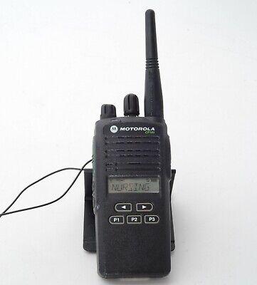 Motorola Cp185 Portable Two-way 4-watt 16 Channel Uhf Radio W Antenna Qty Avail
