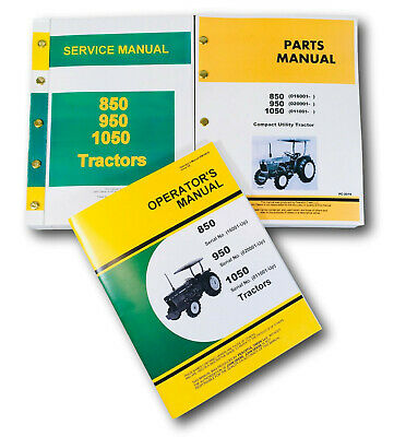 Service Manual For John Deere 850 950 1050 Tractor Parts Operators Owners Repair