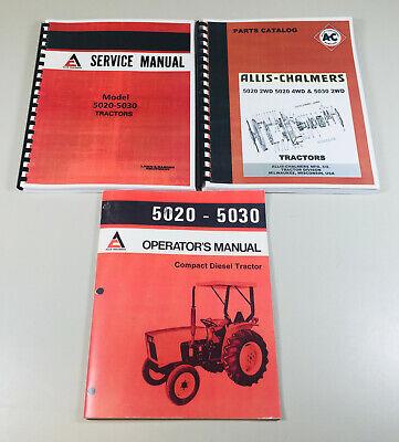 Allis Chalmers 5020 5030 Tractor Service Parts Operators Manual Repair Shop Set