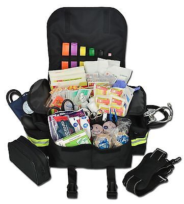 Lightning X Small First Responder Emt Trauma Bag Stocked First Aid Fill Kit B Bk