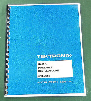 Tektronix 2245a Instruction Manual 190 Pages Protective Covers