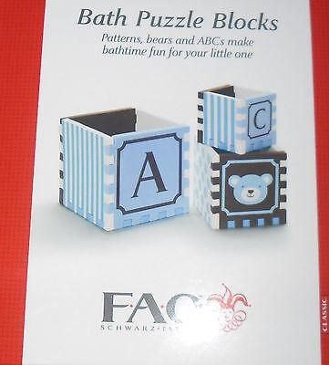 Fao Schwarz Blue Bath Puzzle Blocks