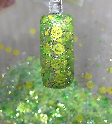 Used, Nail Art Glitter Mix Gel Acrylic  BE HAPPY 😃 for sale  Shipping to India