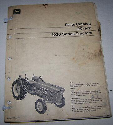 John Deere 1020 Dealer Parts Catalog Pc-970