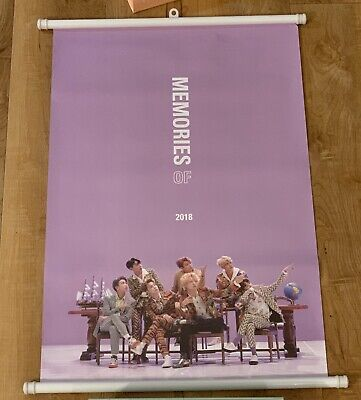 BTS Official Wall Scroll Poster Memories of 2018 Preorder Poster Brand New