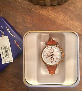 Fossil leather iconic  watch (MINT)
