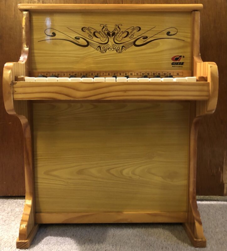 Giese Small Wooden Childs Toy Piano Brazilian Made