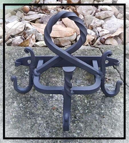 Wall Mounted Implement Hanger, Fireplace/Fire Pit Tools, Blacksmith made in USA