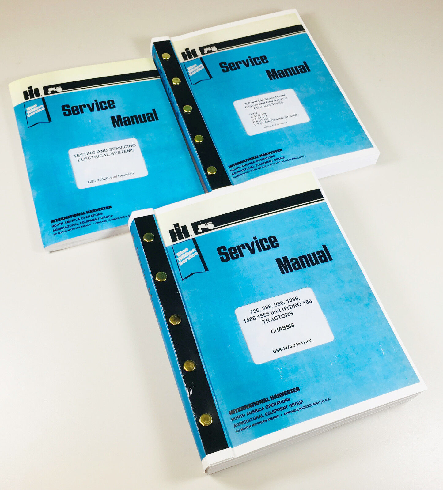 Lot International 986 1086 1486 Tractor Service Repair Shop Manual Ih Wiring Diagram These Are Printed And Bound Manualsno Need To Buy 5 Binders Just Hold Them Together