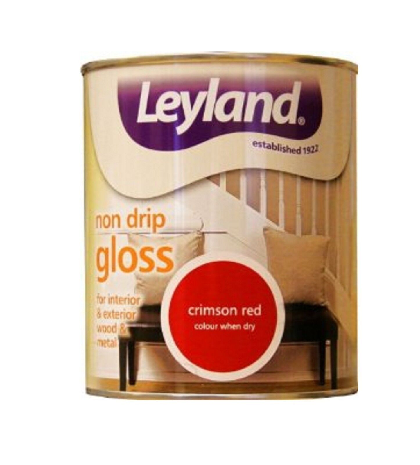 Leyland Non Drip Gloss Paint 750ml Interior Exterio Wood Metal Yellow Red Black Ebay