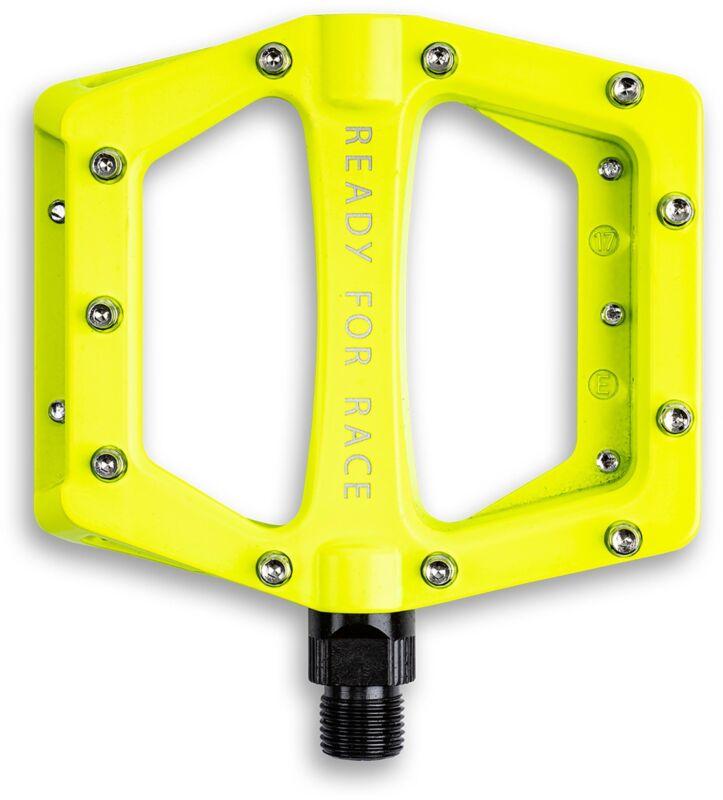 RFR Pedale Flat CMPT Yellow, leichtes Flat-Pedal; Anti-Rutsch-Pins; CrMo-Achse