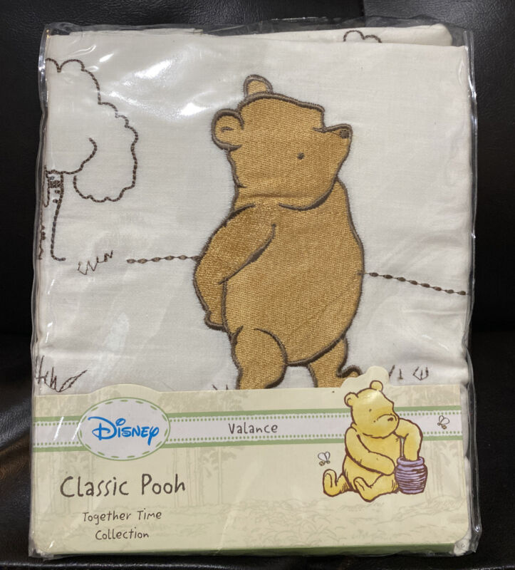 """New DisneyClassic Winnie the Pooh Valance 60x14"""" Together Time Collection"""