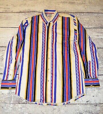 Vintage Men Express Rider Shirt Long Sleeve Mens Casual Clothes Size S - Express Menswear