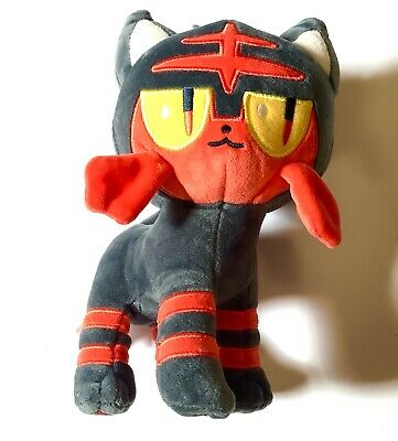 "Pokemon Center Litten Nyabi Sun & Moon Plush Doll Stuffed Toy 7"" Soft USA Seller"