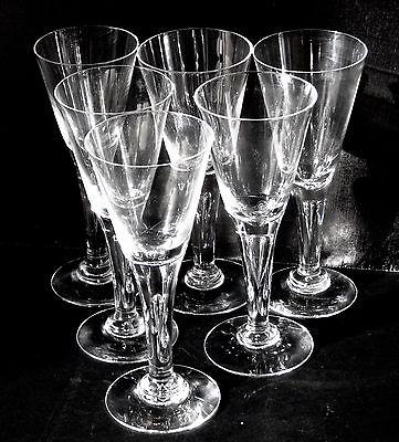 A set of SIX Dartington 'Sharon' sherry glasses FT115/1.