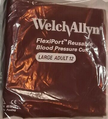 Welch Allyn Flexiport Large Adult 12 Blood Pressure Cuff New