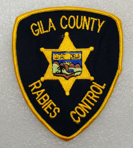 Collectible ANIMAL CONTROL PATCH Gila County ARIZONA Plastic Backed PATCH