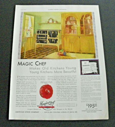 1930 Magic Chef Gas Range Color Ad