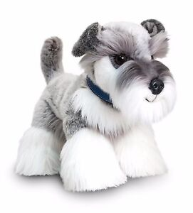 Keel Toys Signature Puppies 30cm Standing Grey Schnauzer Dog Soft Toy SD0944