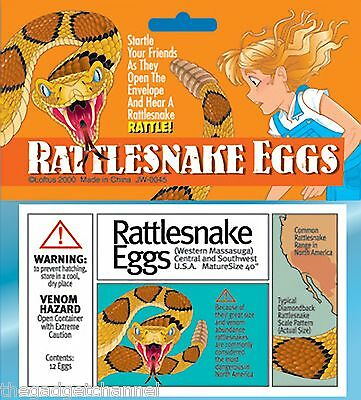 FAKE PRETEND RATTLESNAKE SNAKE EGGS JOKE FUNNY BOYS TOY CHILDRENS XMAS PRESENT