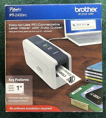 Brother Pt-2430pc Portable Thermal Label Printer W Auto-cutter New