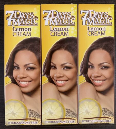 7 Days Magic Lemon Cream  Hydroquinone Free ,  50 Ml / 1.7 O