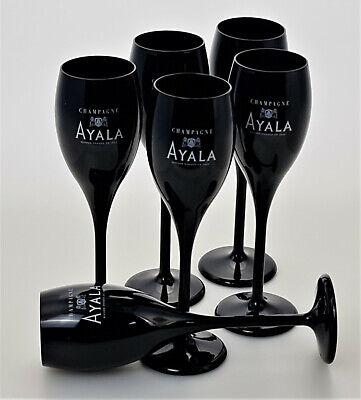 Ayala Champagner Kunststoff Flute Croisiere schwarze Gläser 6er Set 15cl(3707-6)
