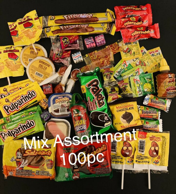 Mexican Candy Mix 100pc Sweet, Spicy and Sour Bulk Dulce Mexicano. Fresh  New