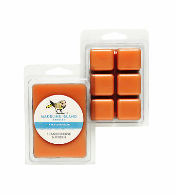 Frankincense & Myrrh Scented Soy Candle Wax Melts. 2 Pack - Handmade in the USA.