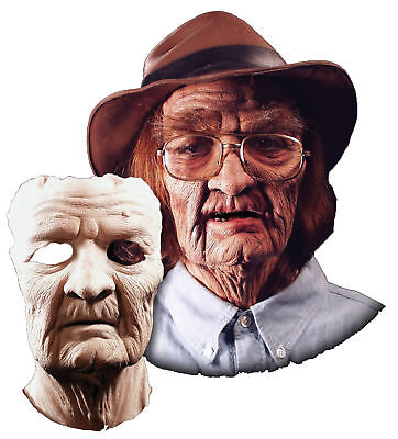 Old Man Halloween Prosthetics (Old Age Foam Soft Spongy Latex Prosthetic Face Mask Halloween Direct,)