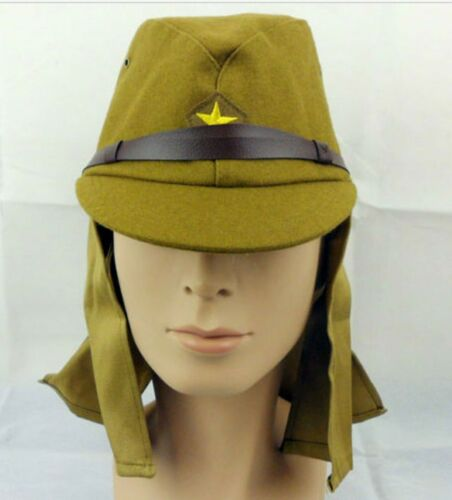 10PCS WWII Japanese army soldier Field cap hat with neck flaps size L