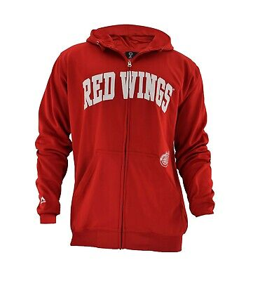 Officially licensed NHL Detroit Red Wings Full-Zip Jacket by Majestic Big & -