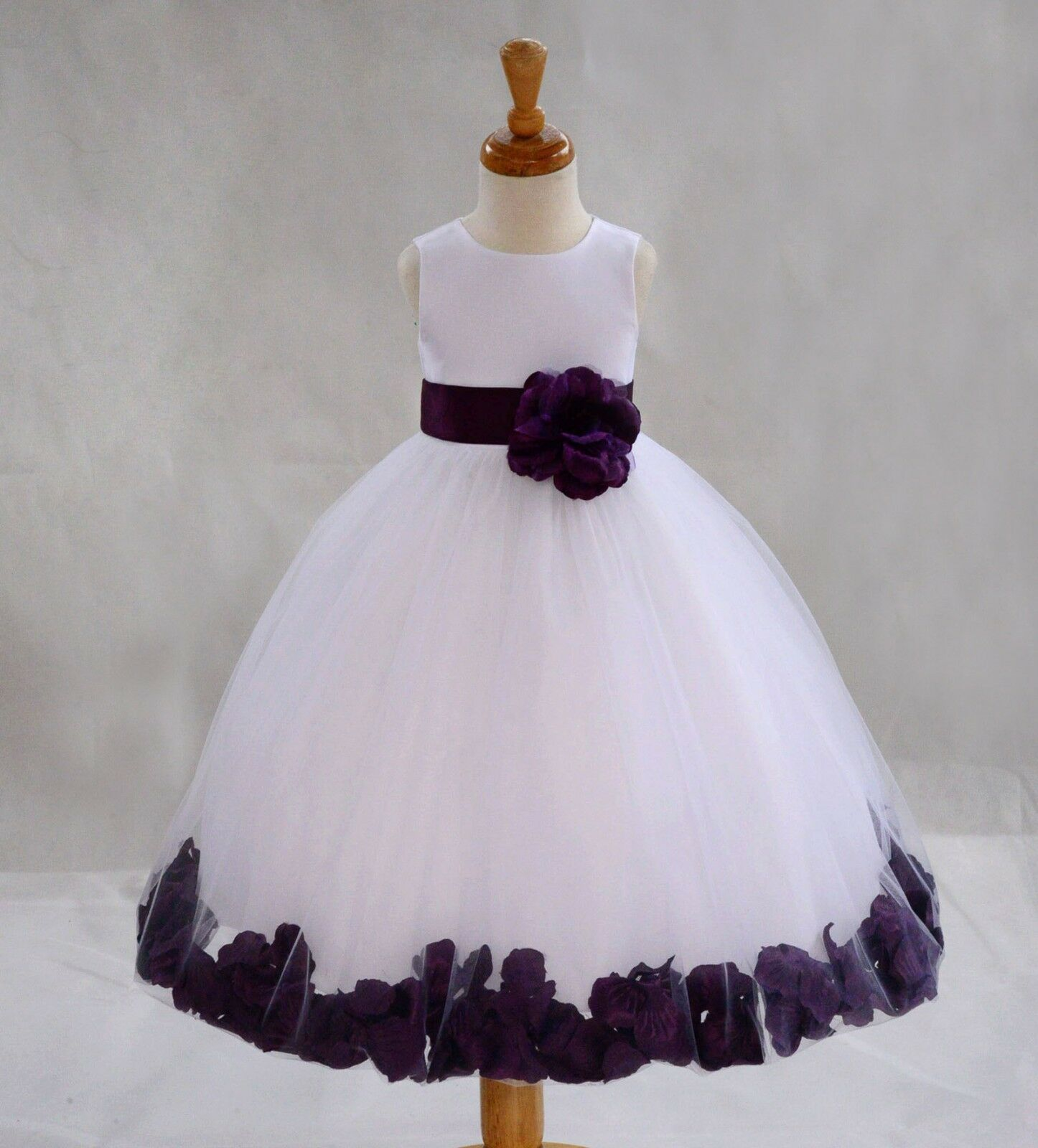 Купить Flower Girl Dress Wedding Bridesmaid Birthday Pageant Graduation ROSE PETAL NEW