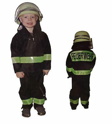 Feuerwehrmann Kostüm mit Helm für Kinder verschiedene Größen Feuerwehr - Feuerwehrmann Kostüm Kid