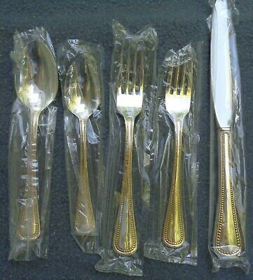 Oneida Community Silver and Golden Patrician Silverware 4 Place Settings New ()
