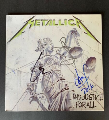 Metallica Band Signed And Justice for All Album with PSA/DNA COA LOA Letter
