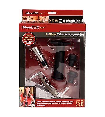 Wine Bottle Opener Set 5-Piece Wine Accessory Tool Corkscrew Stopper Foil Cutter
