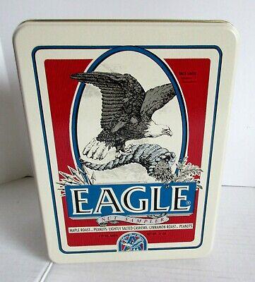 Eagle Nut Sampler Tin Patriotic Anheuser Busch Vintage Bald Eagle USA Snacks - Patriotic Snacks