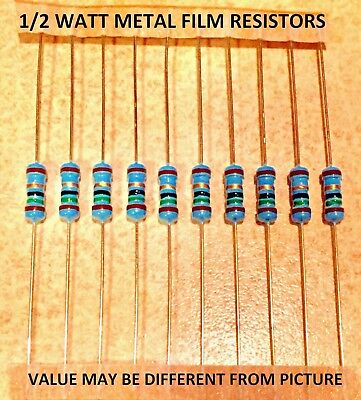 10 Pcs 12 Watt 1 Metal Film Resistors Various Values You Choose