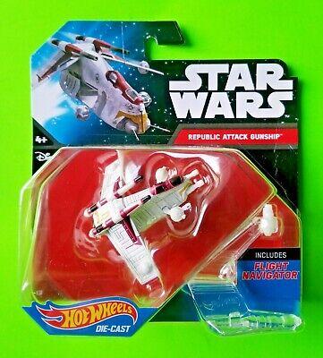 Hot Wheels Star Wars Starship Republic Attack Gunship w/ Flight Navigator - NEW