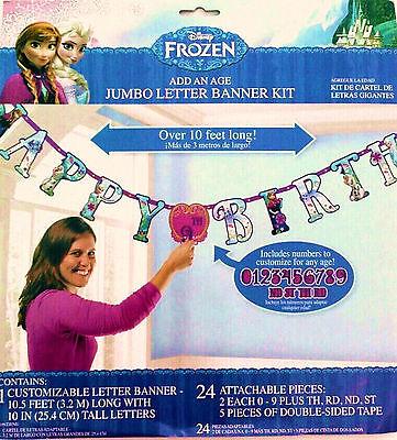 FROZEN ADD-AN-AGE JUMBO LETTER HAPPY BIRTHDAY BANNER PARTY SUPPLIES DECORATIONS - Happy Birthday Frozen Banner