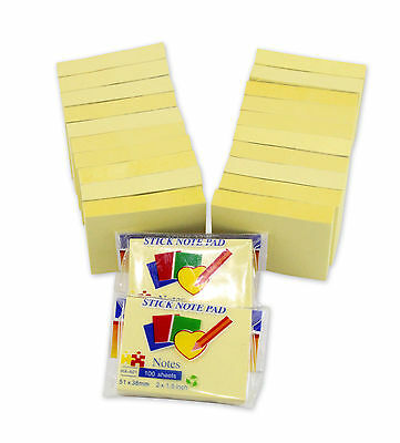 2x1.5 Sticky Yellow Note For Home Office 100 Sheetspad 22-padpack