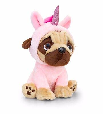 Unicorn Pug Pugsley Onesy Costume Keel Soft Teddy Toy 20cm Dog Lovers - Pugsley Costume