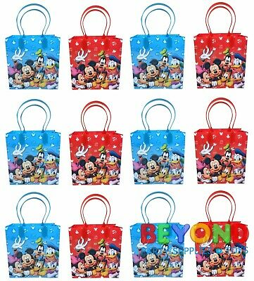Mickey Mouse and Friends Party Favor Treat Goody Candy Loot Birthday Bags  Mickey Mouse Goody Bags