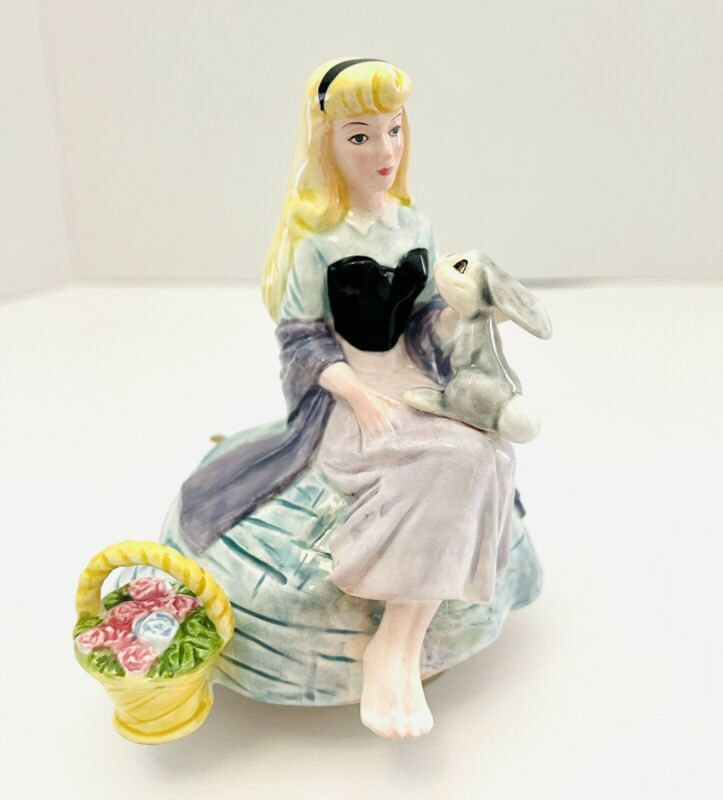 RARE Disney Sleeping Beauty Auroa Schmid Rotating Music Box Once Upon A Dream