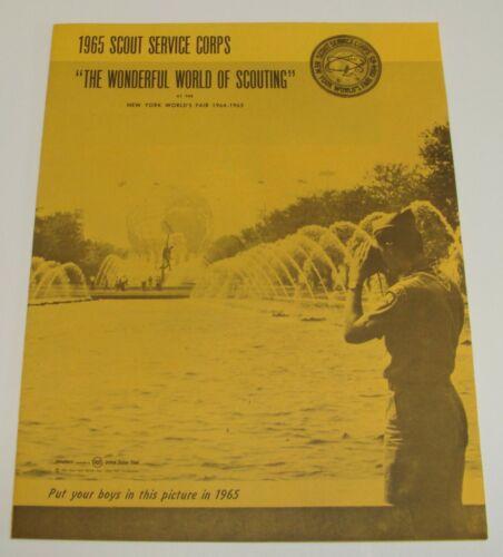 ORIG 1964-65 NYWF BOY SCOUT SERVICE CORPS - WONDERFUL WORLD OF SCOUTING BKLT