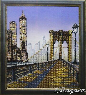Manhattan Perlen (Manhattan Teil 1 Stickpackung Stickbild Stickset Bild sticken mit Perlen 664)